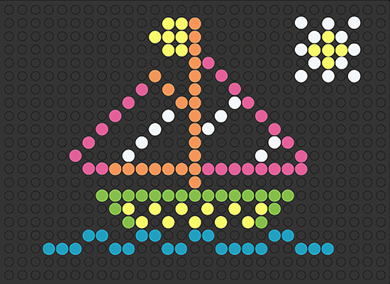 sailboat template for lite brite retro
