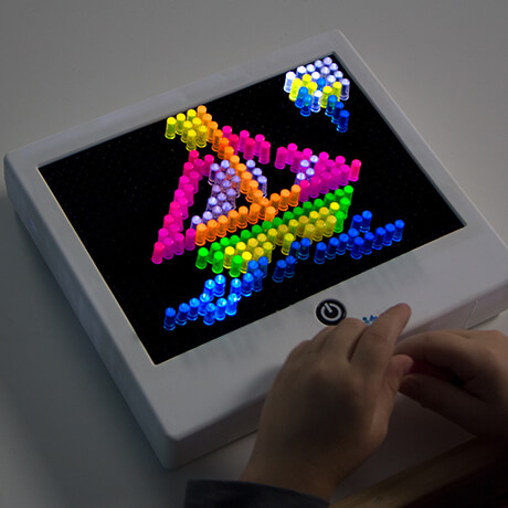Basic fun lite brite nostalgic fun just like the original create art with light using light brites cool templates and bright colorful pegs then hit the button watch your maxwellsz
