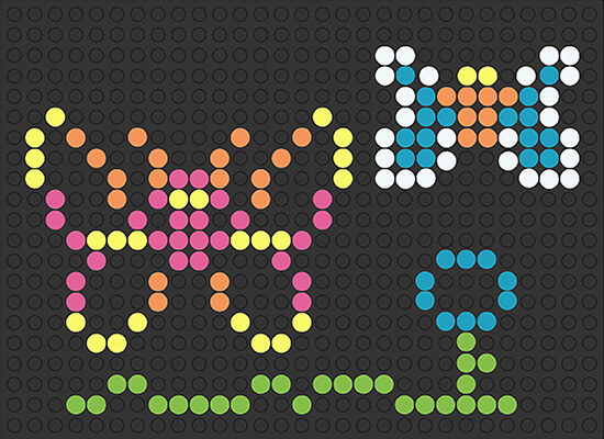 graphic relating to Lite Brite Templates Printable named Photographs of Lite Brite Shots - Artofantiaging